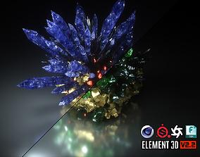 Crystal Formation 3D model