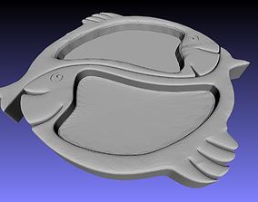 3D printable model fish tray