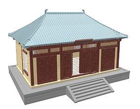 Asian or japan buildings SET -STL 3D printable model