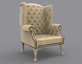 Armchair with chesterfield 3D print model