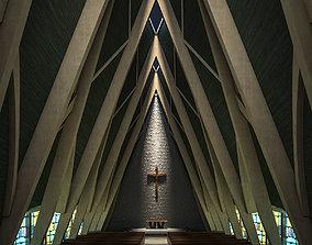 3D model altar Church Interior