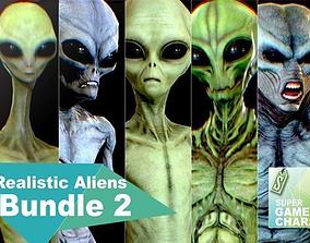 Realistic Aliens Bundle 2 3D model