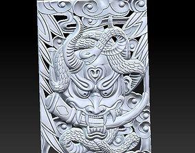 3D model Devil and snake
