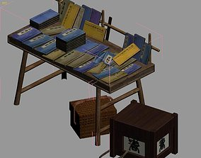 3D model City Street - Book Stall