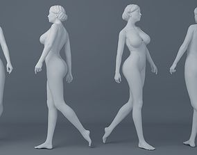 Fullness woman wearing swimsuit 001 3D printable model