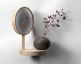 3D model Belvedere Shelf Mirror with Vase