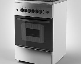 3D Freestanding Gas Cooker