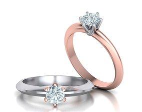 3D printable model Ti Classic ring 5 mm gem
