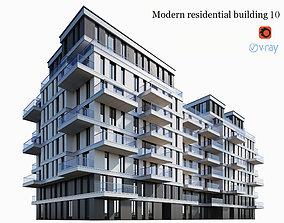 3D model skyscraper Modern residential building 10