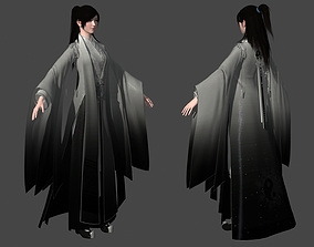game-ready Chinese beauty Woman Female pretty girl lady 3D