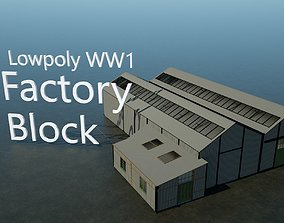 3D model WW1 Factory Building
