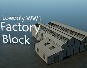 3D model WW1 Factory Building