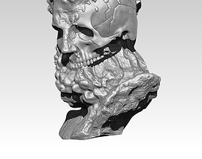 3D print model Modern art bust statue man head skull