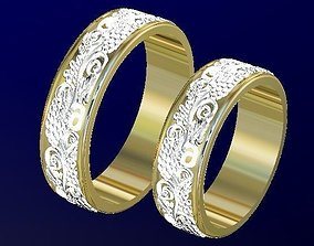 grape engagement rings 3D print model
