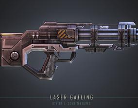 3D model Laser Gatling Gun