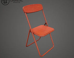 3D model game-ready Metal Chair