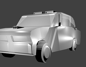 3D model low-poly The Car