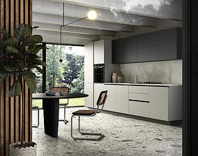 photoshop 3D Modern kitchen scene