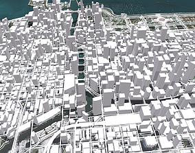 3D Cityscape Chicago fragment city USA
