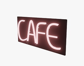 Cafe Neon Sign 3D asset