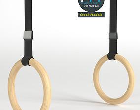 3D model Gymnastics rings