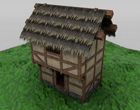 Thatch House Modular Set 3D asset
