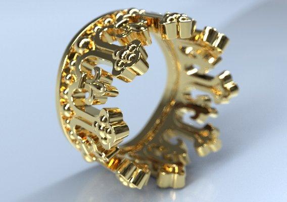 king crown ring