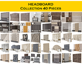 3D model HEADBOARD Collection 40 Pieces