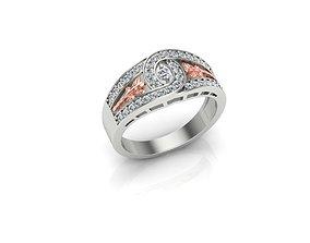 HD Fine Jewelry Knot Ring 3D print model