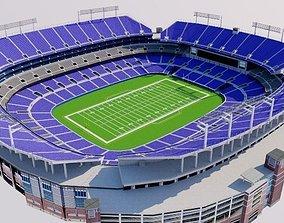 MT Bank Stadium - Baltimore 3D asset low-poly