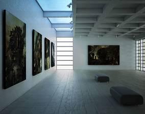 Art Gallery Scene 3D