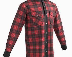 Shirt long sleeves 3D asset