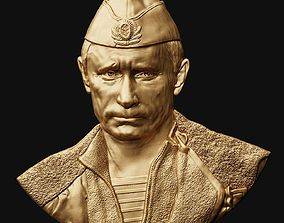 3D print model Putin V relief 3
