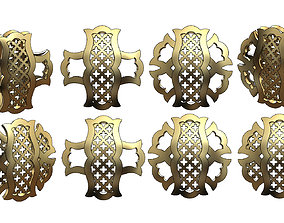 Variations on a arabian islamic pattern for 3D model 1