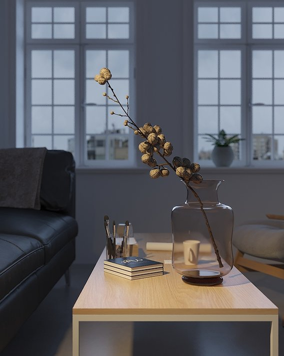 Visualization of a minimalistic interior