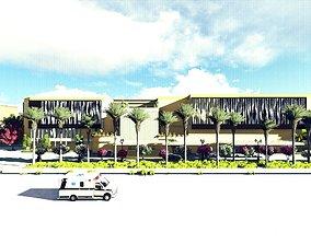 3D Contemporary Hospital Design