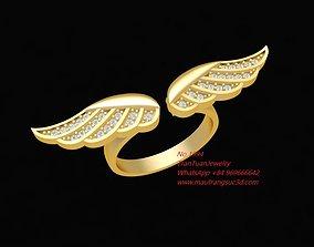 3D printable model 1994 Diamond Angle Wings Ring