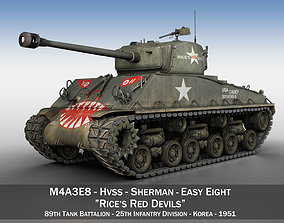 3D M4A3E8 Sherman - Easy Eight - Rice Red Devils