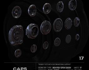 17 Caps SUBD 3D model