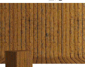 Wood material Painted boards 02 3D model