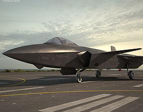 aircraft 3D model Chengdu J-20