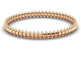 jewelry 3D print model Bracelet Hard Rock two style
