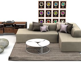 Studio Livingroom Set L471 3D model