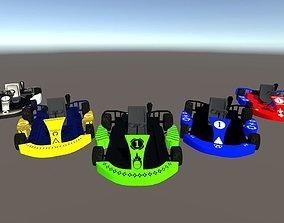 Simple Low Poly Kart pack 3D model
