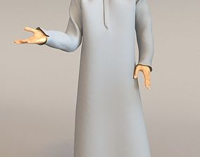 1x Arabic real cloth loop animated boy for testing 3D