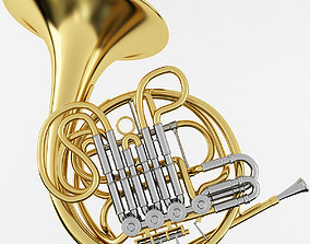 3D model band French Horn