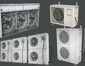 External Vents Pack 3D asset