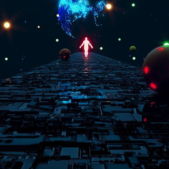 Sci-Fi 3d Scene