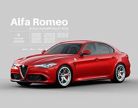 Alfa Romeo Giulia Quadrifoglio 2018 - Interior Exterior 3D