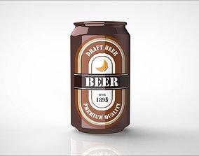 3D model beer can